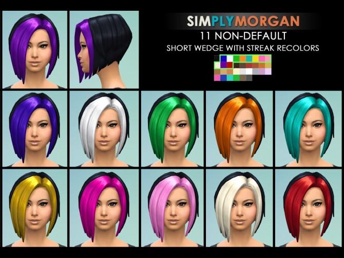 Sims 4 11 Short Wedge with Streak Recolors at Simply Morgan