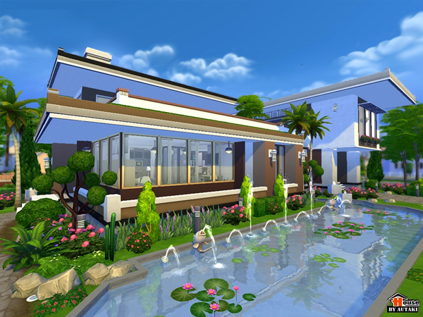 Maya Modern House by Autaki at TSR image 1334 Sims 4 Updates