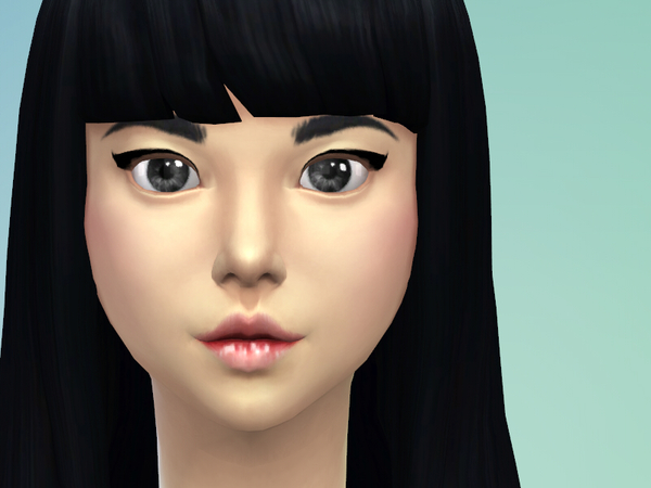 Sims 4 Cute rosy lips by Black Phoenix at The Sims Resource