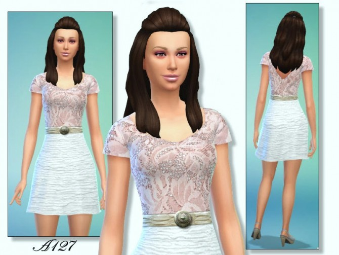 Sims 4 Lace Outfit at Altea127 SimsVogue
