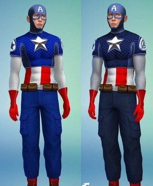 Captain America outfit plus accessories at Sambler image 1421 Sims 4 Updates