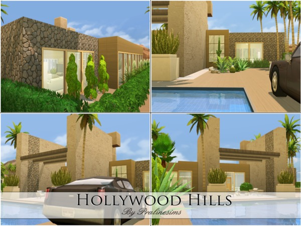 hollywood hills villa by pralinesims at tsr sims 4 updates. Black Bedroom Furniture Sets. Home Design Ideas