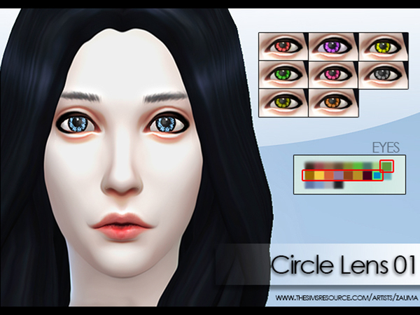 Sims 4 Circle Lens Set 01 by Zauma at The Sims Resource