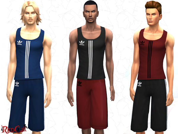 Male Sport Set by RedCat at The Sims Resource image 1530 Sims 4 Updates