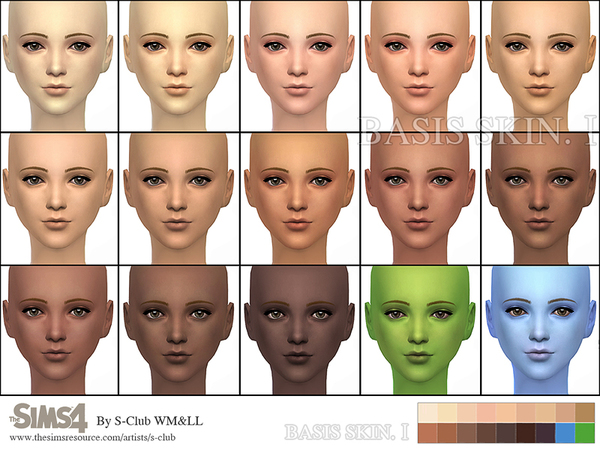 Sims  Natural Skins