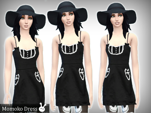 Sims 4 Momoko Dress by  XxNikkibooxX at The Sims Resource