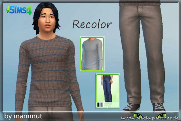 Sims 4 Sweater and pants by mammut at Blacky's Sims Zoo