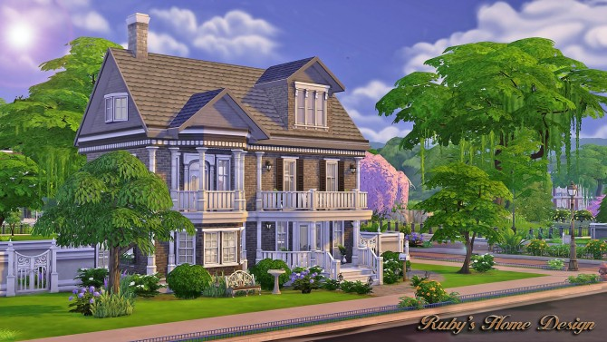 the chocolate house at rubys home design - Sims 4 Home Design