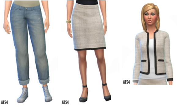 Sims 4 Clothes and shoes by Sandy at Around the sims 4
