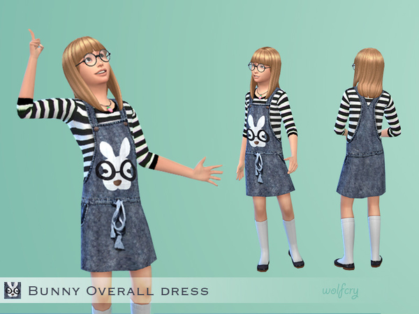 Bunny Overall Dress by Wolfcry at The Sims Resource image 1624 Sims 4 Updates