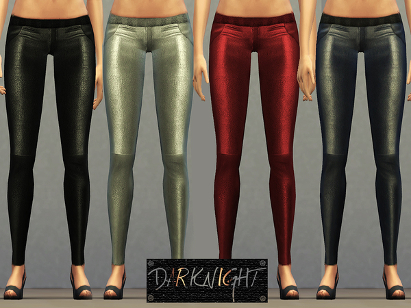 Sims 4 Stretch Leather Leggings by DarkNighTt at TSR
