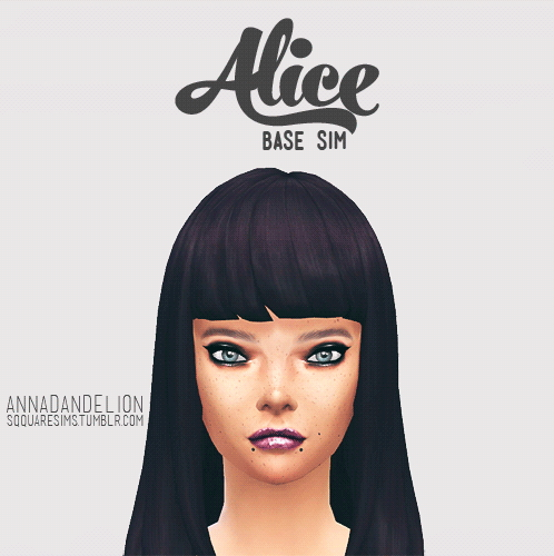 Sims 4 Alice base sim at SqquareSims