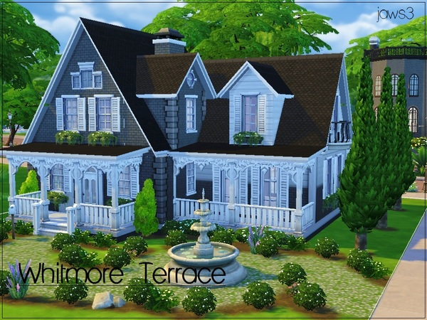 Whitmore terrace traditional home by jaws3 at tsr sims 4 for Big modern house sims 4