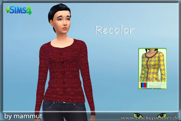 Sims 4 Red knit cardigan by Mammut at Blacky's Sims Zoo