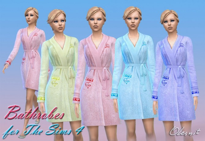 Sims 4 Bathrobes by Olesmit at OleSims