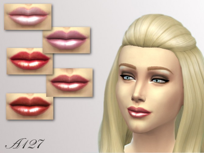 Sims 4 Lipstick 001 at Altea127 SimsVogue