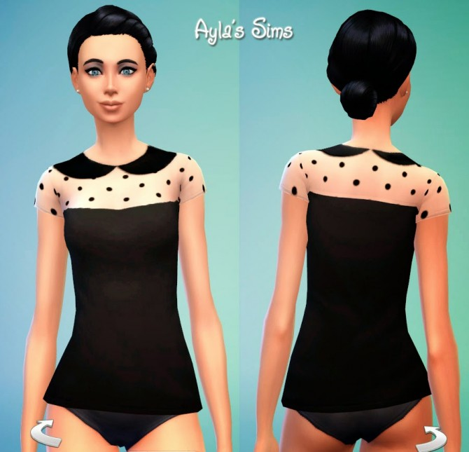 Sims 4 Dotted shirt at Ayla's Sims