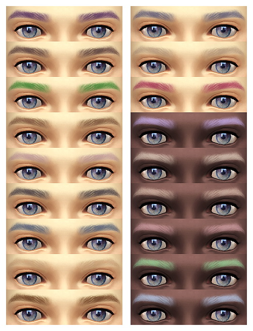 Sims 4 Female Soft Eyebrows at JSBoutique