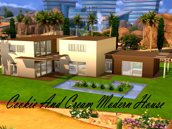 Cookie And Cream Modern Home by HazelSims at The Sims Resource image 1817 Sims 4 Updates