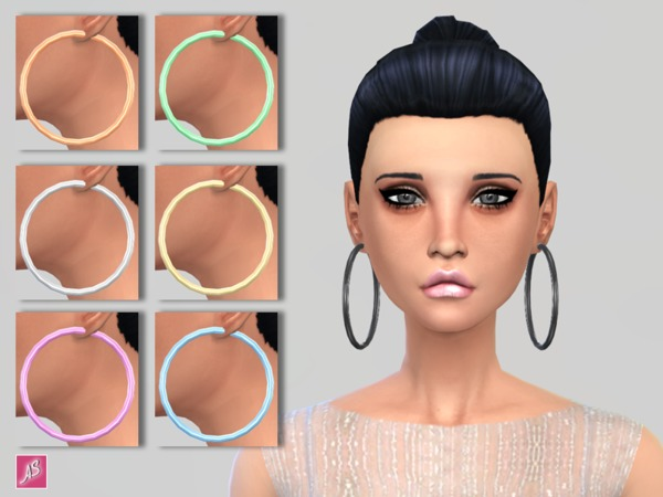 Large Hoop Earrings by Alexandra Sine at TSR image 1836 Sims 4 Updates