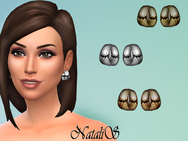 Hammered wide hoop earrings by NataliS at TSR image 1842 Sims 4 Updates