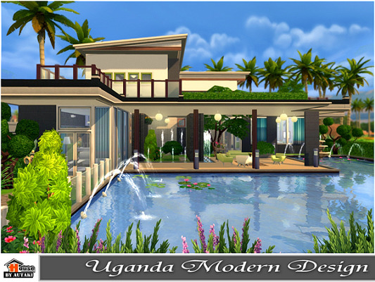 Villa sims 4 updates best ts4 cc downloads for Modern house design the sims 4