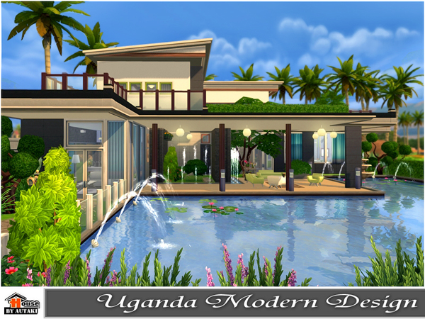 uganda modern design house by autaki at tsr sims 4 updates