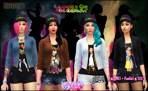 2in1 FanGirl Set at Gabymelove Sims image 191 Sims 4 Updates
