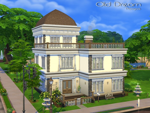 Old dream house by paogae at the sims resource sims 4 for Classic house sims 4