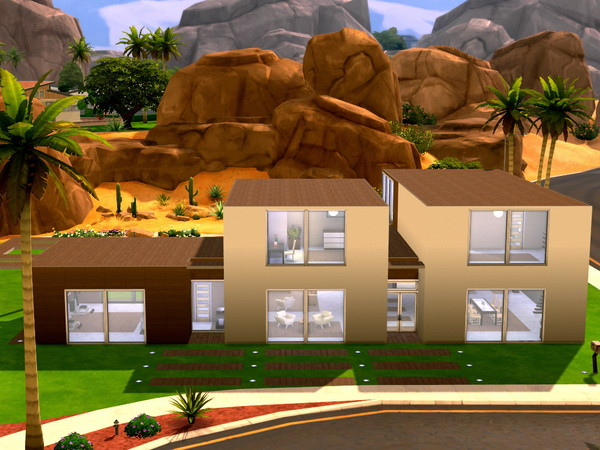 Cookie And Cream Modern Home by HazelSims at The Sims Resource image 1918 Sims 4 Updates