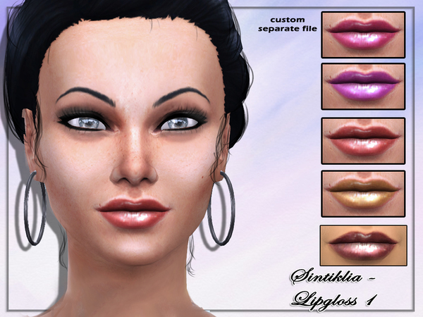 Lipgloss 1 by Sintiklia at The Sims Resource image 1924 Sims 4 Updates