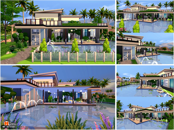 uganda modern design house by autaki at tsr image 1950 sims 4 updates - Sims 4 Home Design