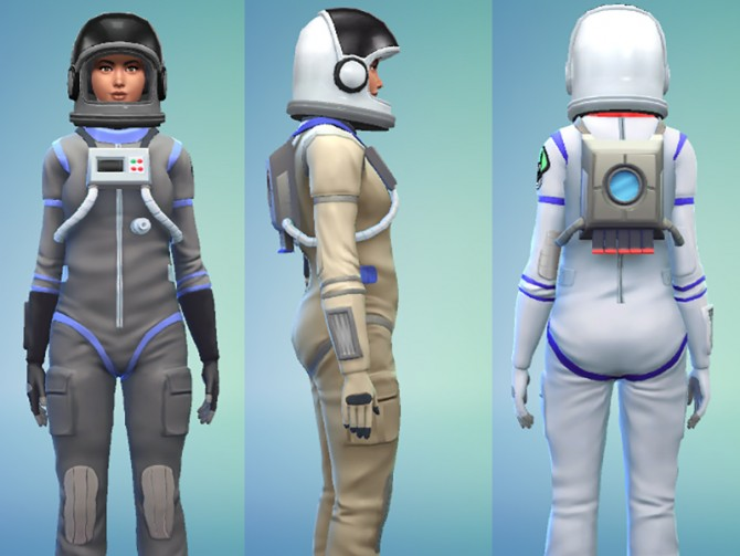 Sims 4 Space Suit Outfit by Snaitf at Mod The Sims