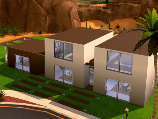 Sims 4 Cookie And Cream Modern Home by HazelSims at The Sims Resource