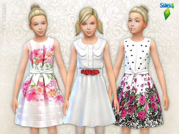 Floral Dresses Set at The Sims Resource image 2019 Sims 4 Updates