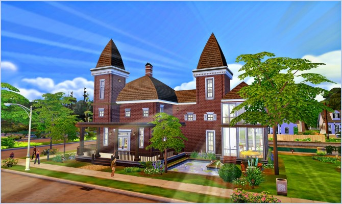 Sims 4 Red Brick Manor at Aronoele Sims4