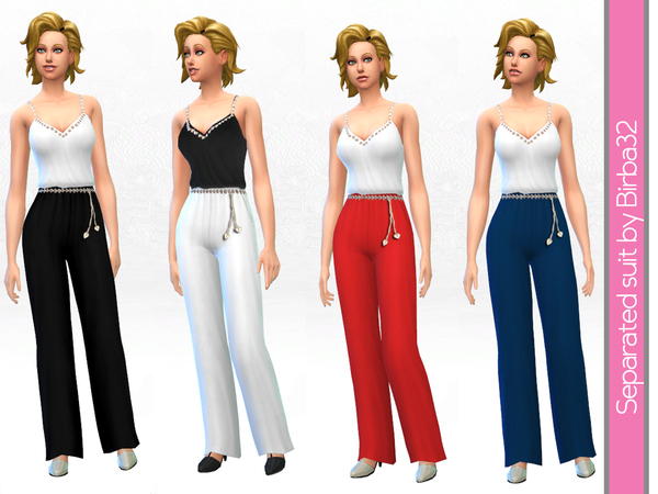Separated suit by Birba 32 at TSR image 2037 Sims 4 Updates