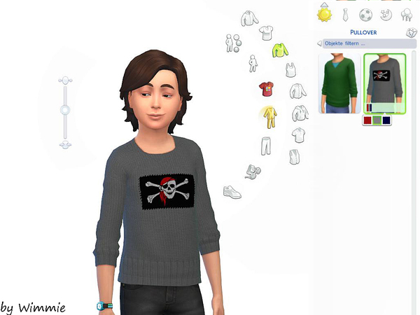 Sims 4 Knitted sweater with flags by Wimmie at TSR