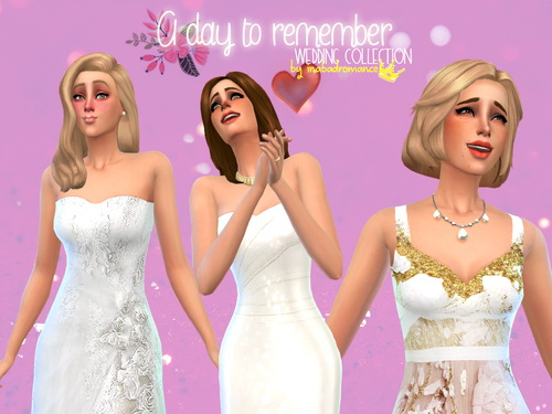Sims 4 3 wedding dresses at In a bad Romance