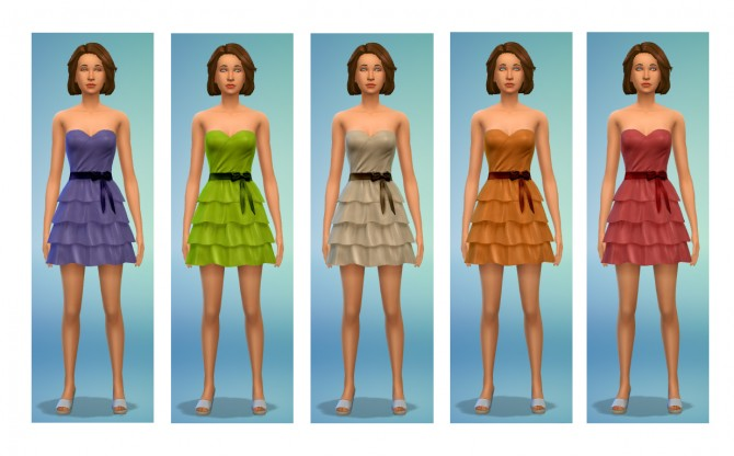 5 dress recolors at Simsnacks image 2101 Sims 4 Updates