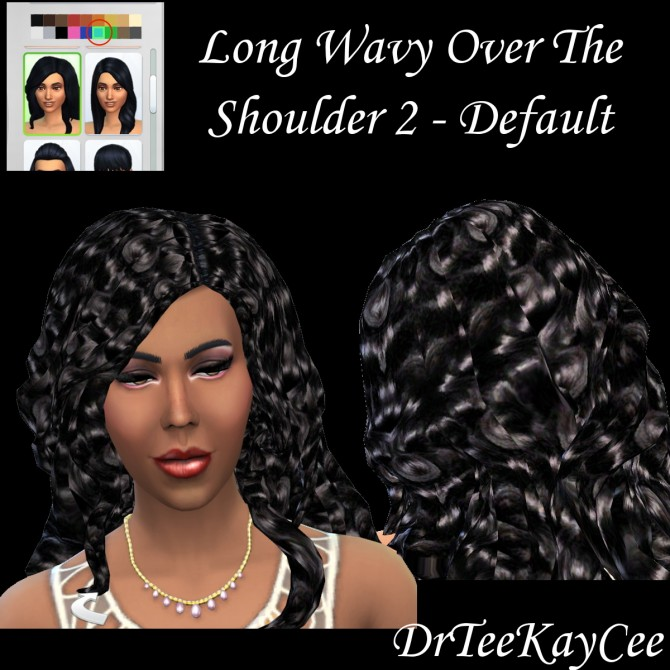 Sims 4 2 Long Wavy hairs by DrTeeKayCee at Sim Culture Nation