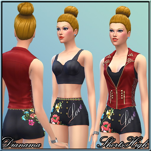 Sims 4 Little Shorts by Dianama at Saratella's Place