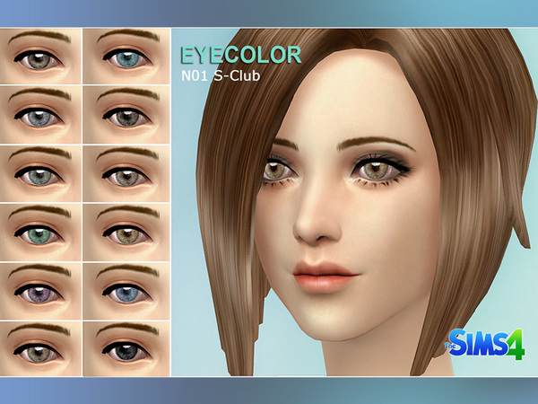 Sims 4 Eyecolor default replacement 01 by S club at The Sims Resource