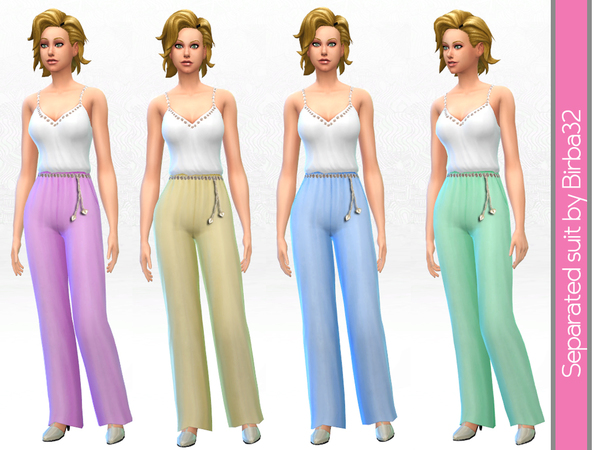Separated suit by Birba 32 at TSR image 2153 Sims 4 Updates