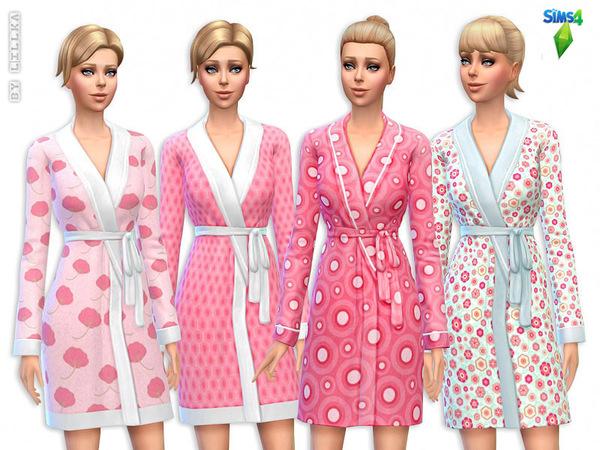 Sims 4 Cute Pink Bathrobes set by Lillka at TSR