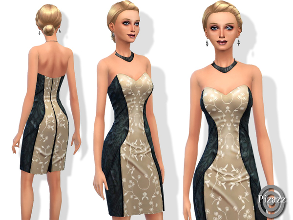 Sims 4 Silk Pencil Dress by pizazz at The Sims Resource