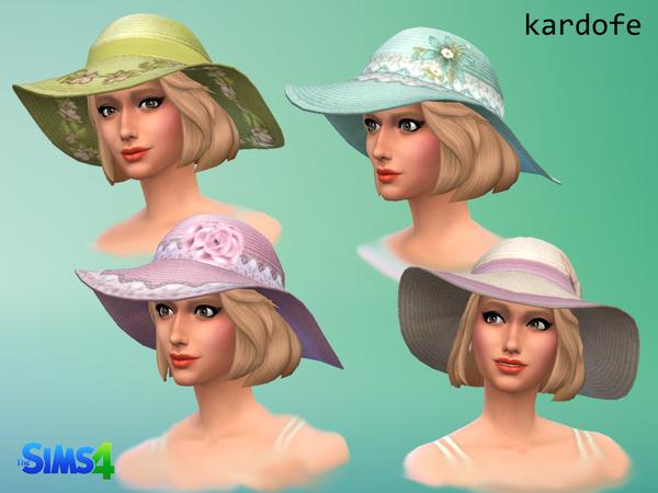 Sun hat by Kardofe at TSR image 2234 Sims 4 Updates