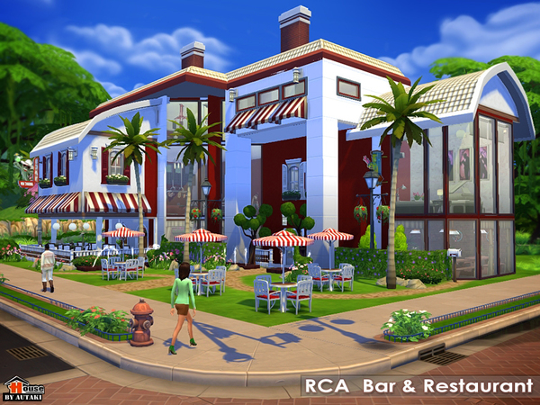 Sims 4 RCA Bar and Restaurant by autaki at The Sims Resource