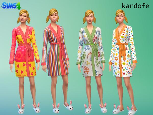 Bathrobe recolor by kardofe at TSR image 2340 Sims 4 Updates