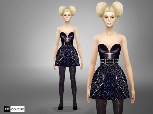 Licorice Dress by MissFortune at TSR image 2343 Sims 4 Updates